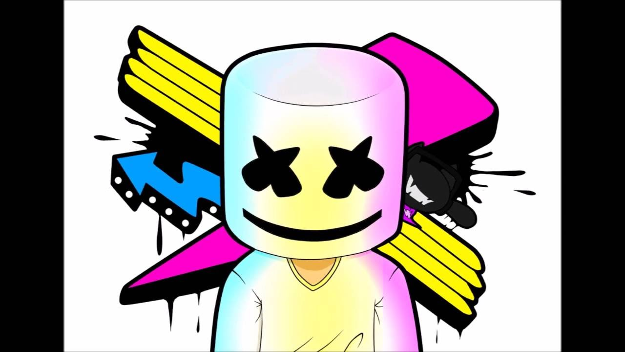 Marshmello[Monstercat Paint Tool SAI Speedpaint] - YouTube