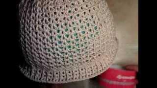 0  Как связать шапочку клумбу, образец материалы