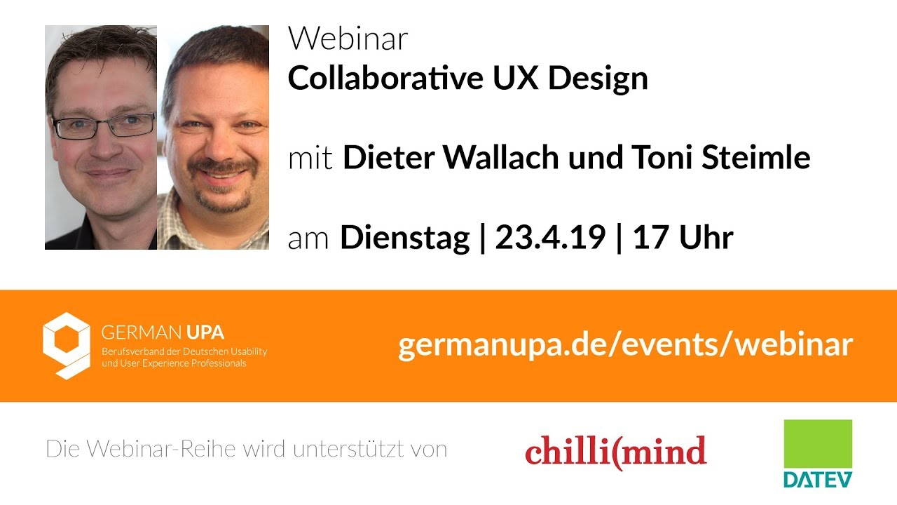 Teaser Webinar Collaborative Ux Design Dieter Wallach Und Toni Steimle Youtube