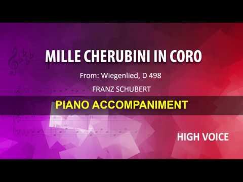 Mille cherubini in coro / Schubert: Karaoke + Score guide / High voice