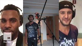 Luke Bryan & Jason DeRulo Record Split-Screen Duet of