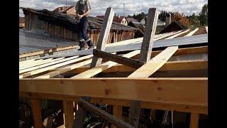 Кузница своими руками во дворе частного дома-8. Кроем крышу