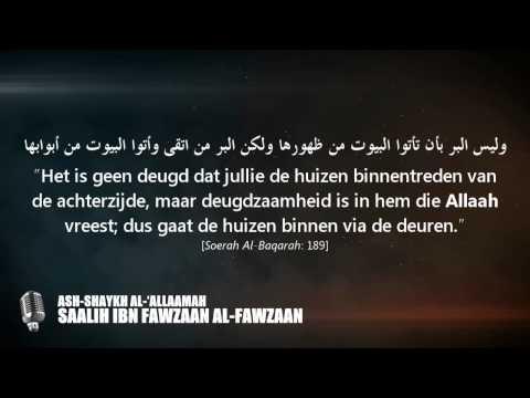 Kennis heeft zijn deuren, zijn mensen en zijn dragers! - Shaykh Saalih Al-Fawzaan