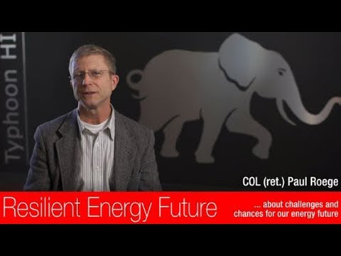 Our resilient energy future - An interview with COL (ret.) Paul Roege P.E.