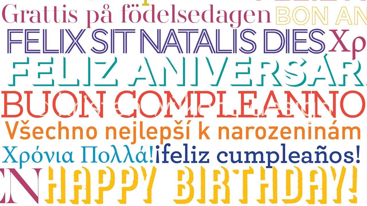Happy Birthday Multi Language Version Youtube