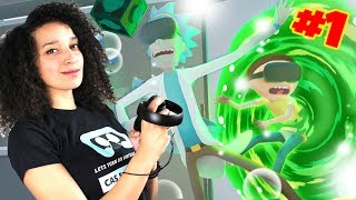 RICK AND MORTY VR GAME (2017) PART 1 | Rick and Morty: Virtual Rick-ality (Oculus Touch Gameplay) #1