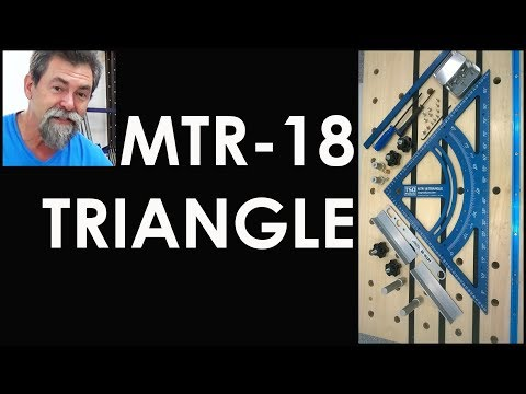 TSO MTR-18 TRIANGLE for use on Festool MFT-3 and Stanton bench | woodworking wood shop