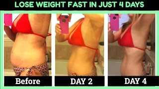 4 Day Diet Plan For FAST Weight Loss & Natural Body Cleanse | How to Lose Weight in Just Four Days