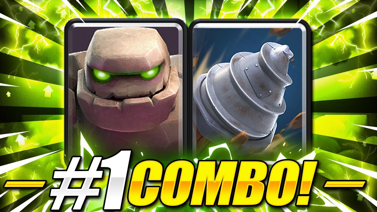IMPOSSIBLE TO DEFEND THIS!! NEW GOLEM DRILL DECK in Clash Royale!!