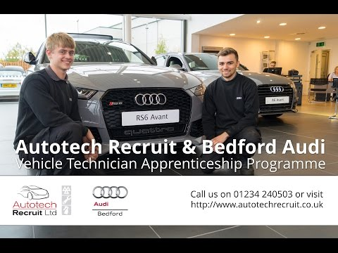 Bedford Audi Apprenticeship Programme for Future Vehicle Technicians from Autotech Recruit