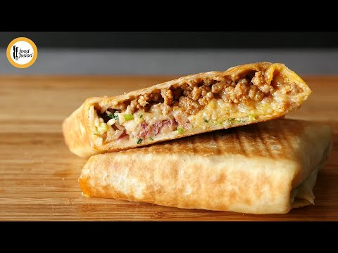 Mexican Burrito Wrap Recipe By Food Fusion