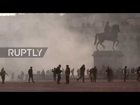France: Arrests, tear gas mark 15th weekly Yellow Vest protest in Lyon