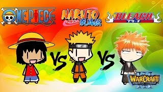 Bleach vs Naruto vs One Piece (Warcraft 3)