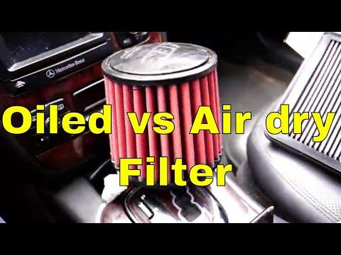 Oiled vs Air dry Filters  K&N vs AEM