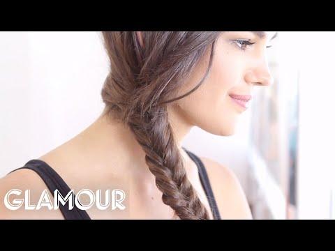 How To Do A Fishtail Braid - Hey, Hair Genius - Glamour