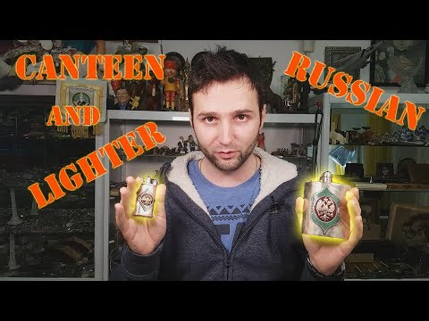 Antique Russian Lighter and Canteen