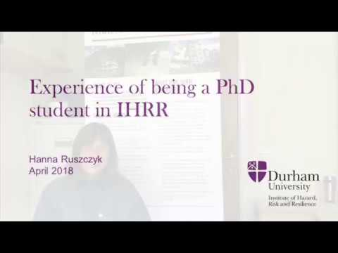 Hanna Ruszczyk's experience of being a PhD student in IHRR