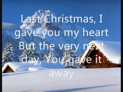 Wham - Last Christmas (lyrics on screen)