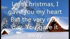 Wham - Last Christmas (lyrics on screen)
