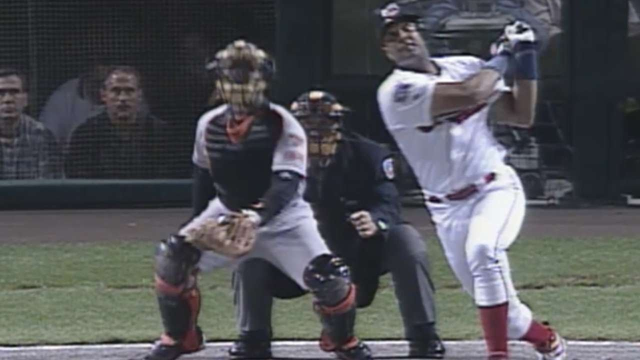 1997 ALCS Gm4 Alomar Hits A Two Run Homer In 2nd