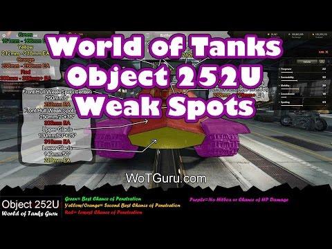 World of Tanks: Object 252U Weak Spots