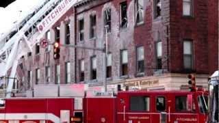Columbia Hotel Five Alarm Fire, Leominster, MA Lisa Boisvert 11-24-12