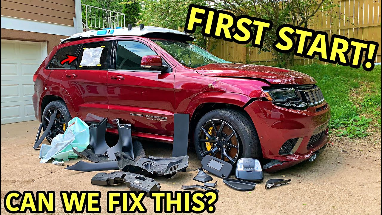 Rebuilding A Wrecked 2018 Jeep Trackhawk Part 2 Youtube
