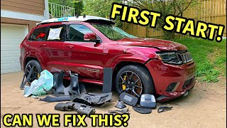 Rebuilding A Wrecked 2018 Jeep Trackhawk Part 2