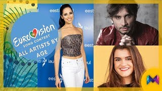 Eurovision 2018 - All Singers by Age | From 42 to 19 | #ESC2018