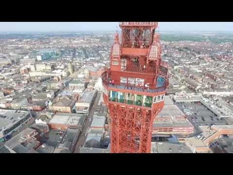 DJI PHANTOM DRONE EXPLORES AROUND BLACKPOOL TOWER