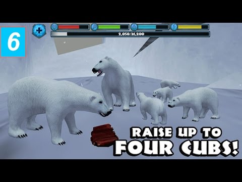 Polar Bear Simulator- By Gluten Free Games - Part 6  -Compatible with iPhone, iPad, and iPod touch.