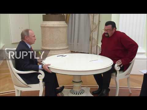 Russia: Steven Seagal receives Russian passport from Putin