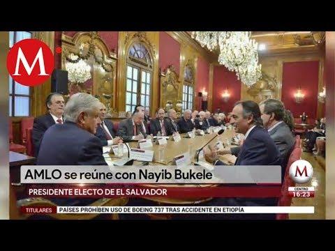 AMLO se reúne con Nayib Bukele, presidente electo de El Salvador