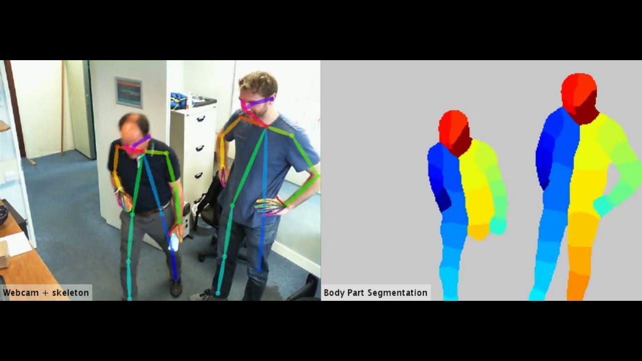 2017 real-time body part segmentation