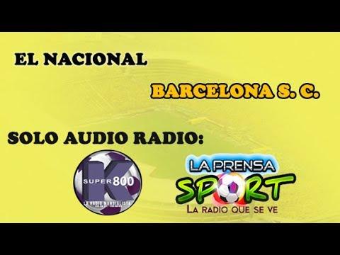 SOLO AUDIO: EL NACIONAL 1 BARCELONA 3 [] RADIO SUPER K800 LA PRENSA SPORT