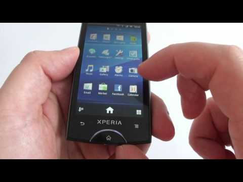 Sony Ericsson Xperia ray hands on Android 2.3.3