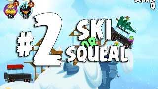 Angry Birds Seasons Ski or Squeal 1-2 Walkthrough 3-Star