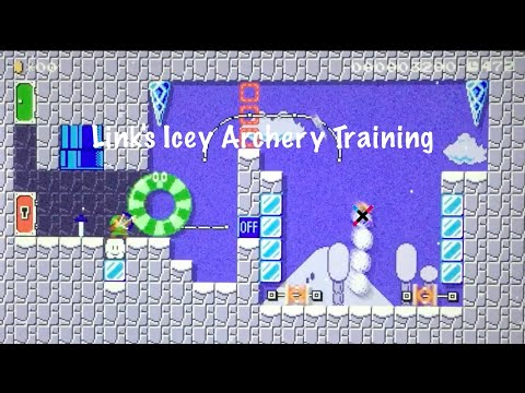Link's Icey Archery Training! Super Mario Maker 2
