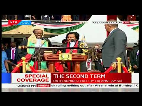 CJ David Maraga hands over Certificate to President-elect Uhuru Kenyatta