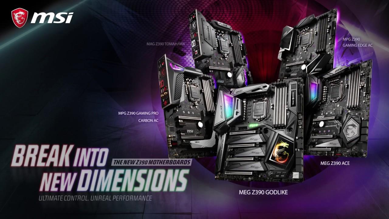 Entrez dans une nouvelle dimension avec les cartes mères MSI Z390