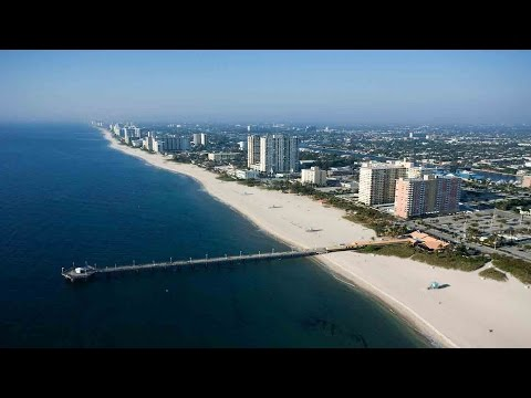 DEERFIELD BEACH - AMAZING AIRPLANE VIEW! Flying over South Florida