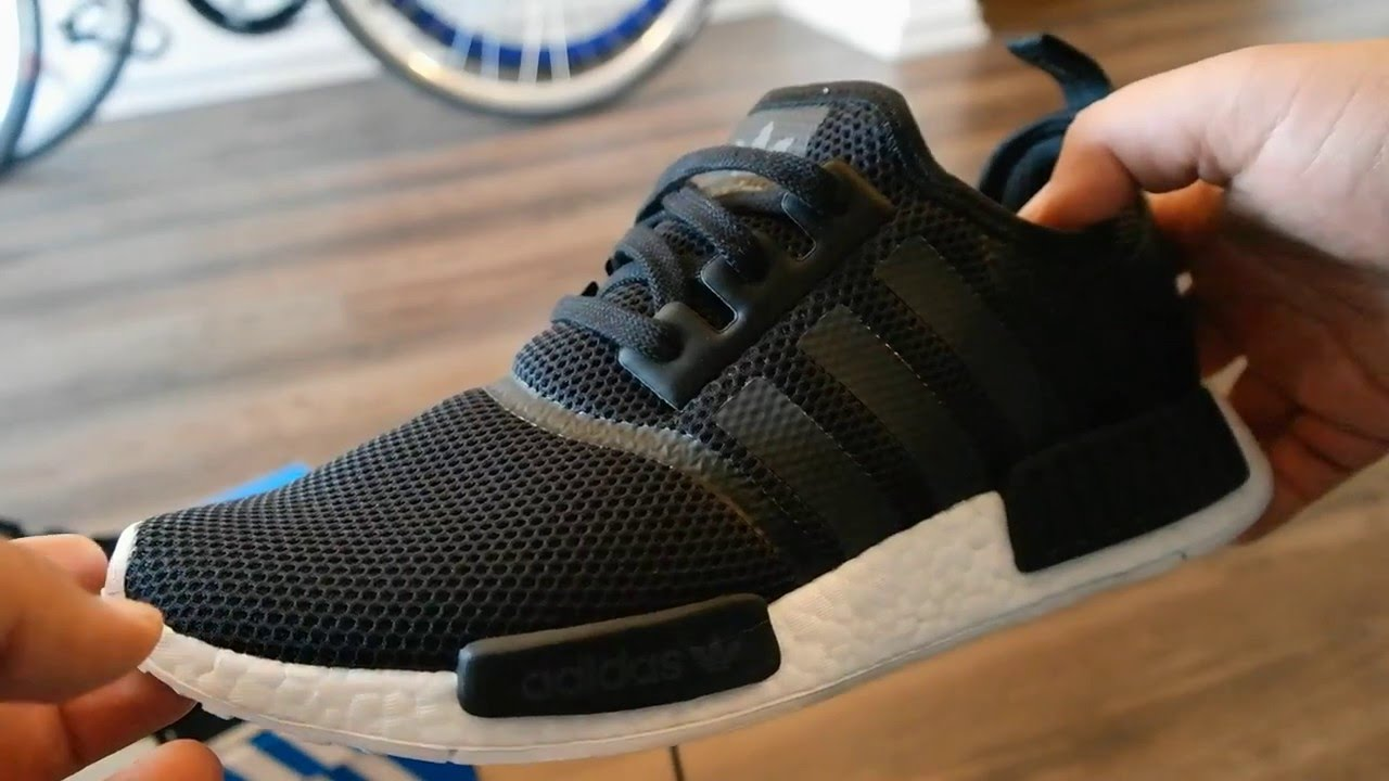 75c82f012 Adidas NMD R1 Review + on Foot (Monochrome Black) - YouTube