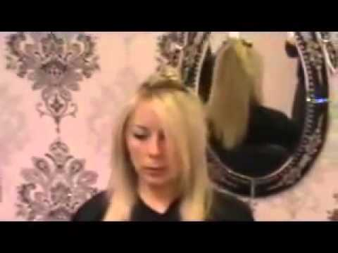 How to blowdry curly hair straight PART 2
