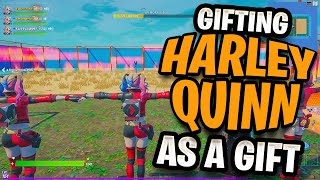 Gifting A REBIRTH HARLEY QUINN Skin For A Win In Random Squads!