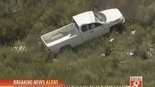 Pursuit & Roll-Over Crash - CHP Chase Suspects L.A. to San Diego