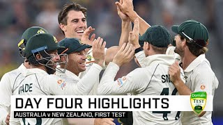 Australia turn up the heat to storm to first Test win | First Domain Test v New Zealand