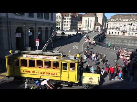 Tramparade Zürich, historischer Tramcorso: Die gute alte Zeit ist heute
