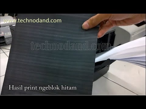 Printer Hp Laserjet pro-400 m401n hasil print ngeblok hitam