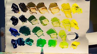 how to mix colors and get green acrylic paint