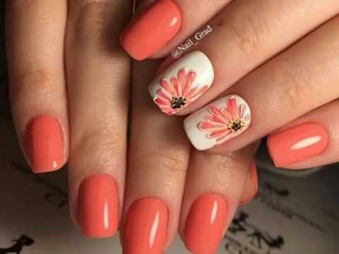 U as coral naranja tendencia primavera youtube for Decoracion de unas verano 2015